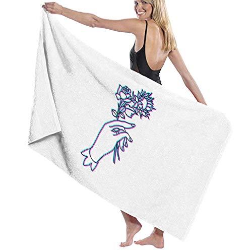 U/K Trippy Hands Toalla de baño de secado rápido
