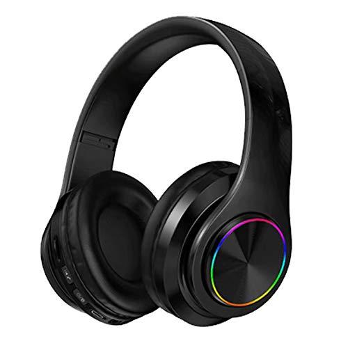 Langguth Kabelloser Over-Ear-Kopfhörer, Bluetooth Kopfhörer mit Mikrofon und LED-Licht, Wireless Headset für Handys Tablets, Laptops & PC, Faltbar/Leicht