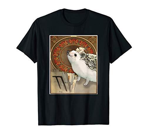 Igel Mucha Style Jugendstil Poster Art T-Shirt