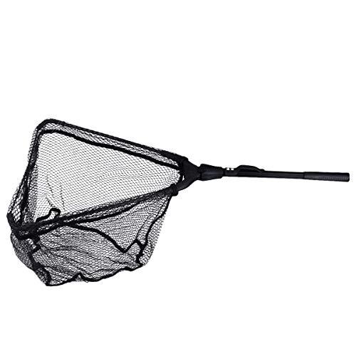 BESPORTBLE Fishing Net Fish Landing Net Aluminum Handle Folding Fishing Nets for Catch Release Butterfly