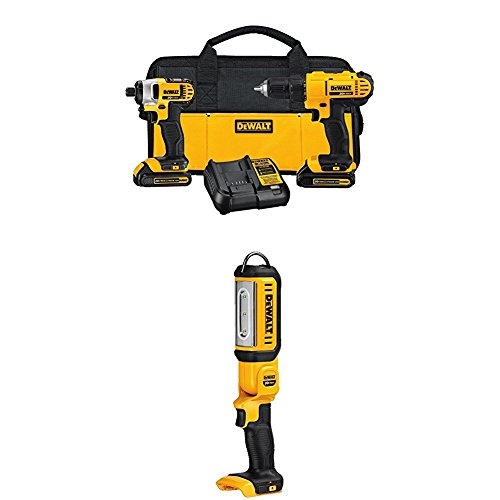 20v Lithium Drill Driver/Impact Combo Kit with 20V Max LED Hand Held Area Light