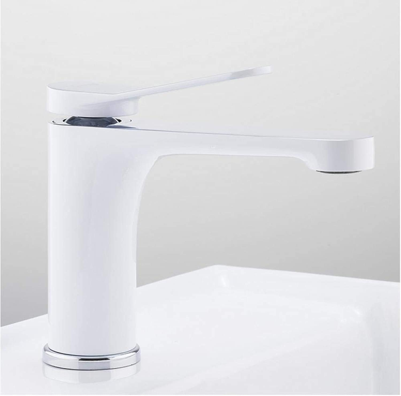 Wasserhahn Neue Waschtischarmaturen Moderne Wei Chrom Messing Waschbecken Wasserhahn Einhand-Loch Wc Wannenmischer Wasserhahn Kran