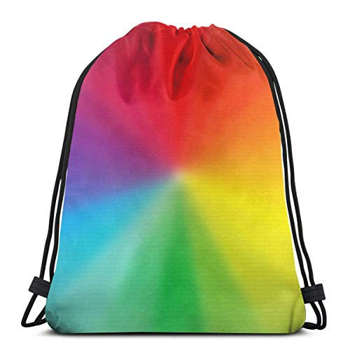 March flowers Rainbow Color 3D Print Drawstring Backpack Rucksack Shoulder Bags Gym Bag for Adult 16.9\