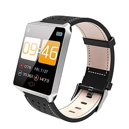 KDMB Reloj Inteligente Deportivo Reloj Inteligente a Prueba de Agua Ritmo cardíaco Monitorización de la Salud del sueño Información Inteligente Recordatorio Podómetro WatchC