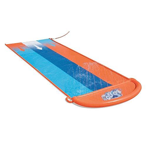 BZLLW Tobogán de Agua, Diapositiva de Agua Tres Personas, Incluye Velocidad de rampa & Splash Landing, Gran Juguete del Verano al Aire Libre for la diversión de la Familia