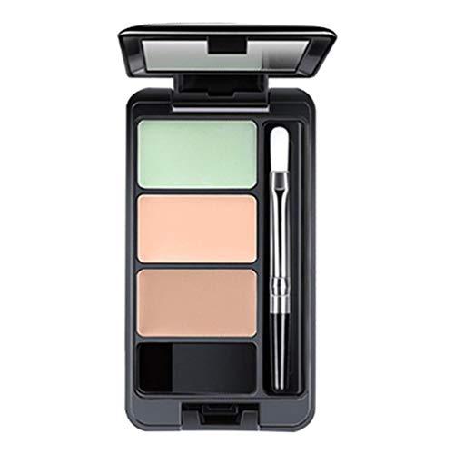 Koojawind Nouvelle Fille ÉTé Couleur Maquillage- 3 Couleurs Contour Du Visage Camouflage CrèMe Contour Palette Costume, Fondation Maquillage Shimmer CrèMe Contour Du Visage CosméTique
