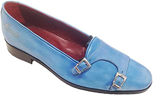 Garofalo Gianbattista , Herren Mokkasins blau hellblau