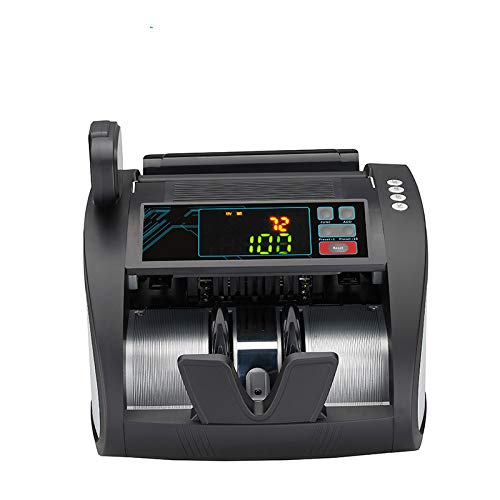 QWERTOUY Geldzähler mit UV/MG/IR-Erkennung, Banknotenzählmaschine mit Falschgelderkennung - LED-Anzeige, Batch-Modi