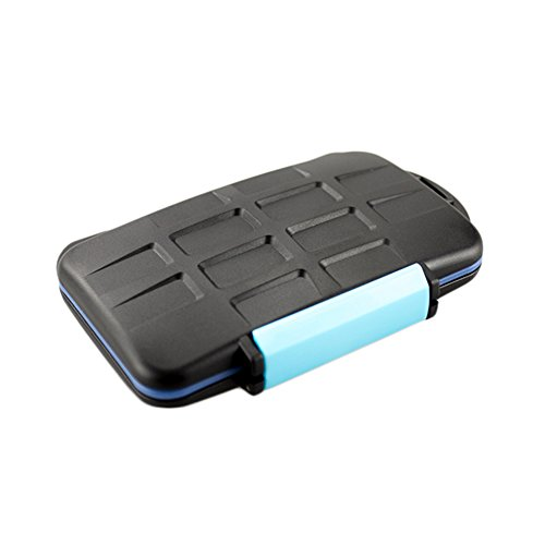 JJC Waterproof Extremely Tough Memory Card Case MC-2 for 4 CF Cards 8 SD Cards