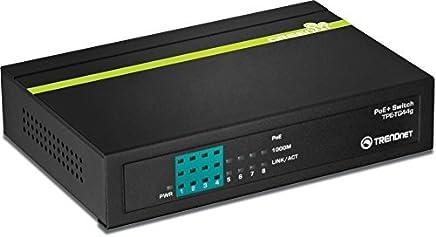 TRENDnet 8-Port Gigabit GREENnet PoE+ Switch (4 x Gigabit PoE/PoE+ Ports and 4 x Gigabit Ports), TPE-TG44g [並行輸入品]