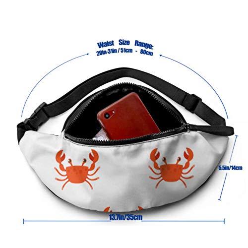 JIUCHUAN Taillenpackung Männer Krabben Kleine Zange Beach Crawl Taillenpackung Kinder mit Kopfhöreranschluss und verstellbaren Trägern Fitness Taillentasche für Reisesport Wandern