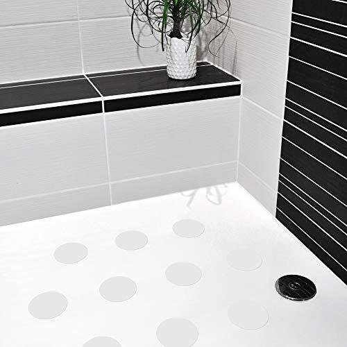 10 STK. Anti-Rutsch Sticker für Duschen & Badewannen, farbig, Rutschklasse C DIN 51097, selbstklebend (weiß)