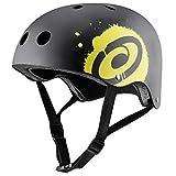 Osprey Black Casco semiintegral Ciclismo, Patinete, Skateboarding Negro, Amarillo - Cascos de protección para Deportes (Casco semiintegral, Construcción Robusta con calota Dura, Mate)