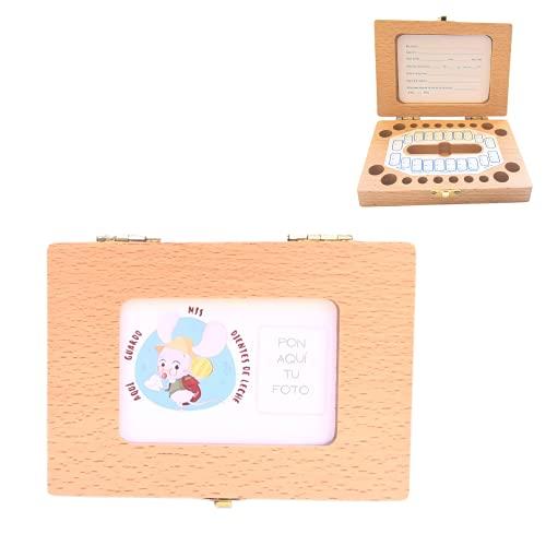 Caja de madera para guardar los dientes de leche El Ratoncito Pérez (Caja ID)