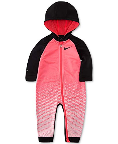 Nike Baby Girls Just Do It Therma Coverall Size 3 Months Racer Pink
