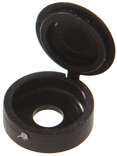 HILLMAN 59052 Black Hinged Screw Covers (1/4') - 10 Pieces