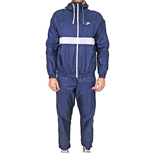 Nike Mens Sportswear Tracksuit, Midnight Navy/White, L