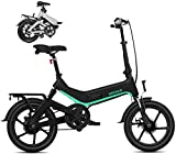 Bicicletas Eléctricas, E-bici plegable de 16 pulgadas elecrtic bicicletas extraíble 36V7.8AH impermeable a prueba de polvo y una batería de litio, luz Ultra-Frame de aleación de magnesio, faros LED y