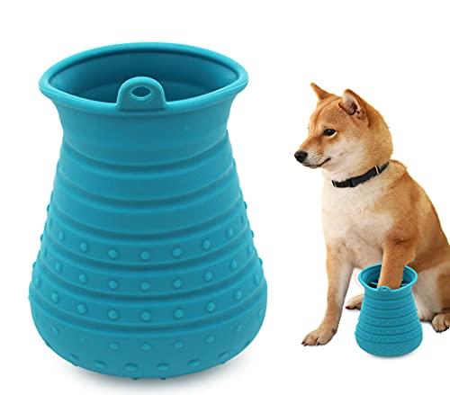 Idepet Hunde Pfote Reiniger,Haustier Pfotenreiniger mit Handtuch Dog Paw Cleaner für Hunde Katzen Massage Pflege Schmutzige Klauen