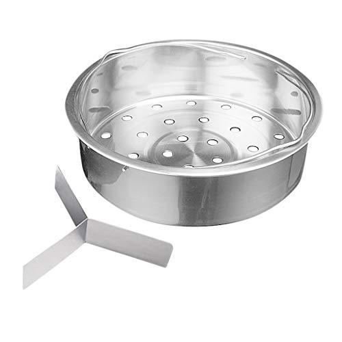 Steamer Bakset for Stainless Steel Colander stoominzet - Zilver, 21cm inductie pan dmqpp (Size : 21cm)