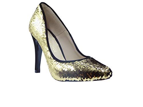 JUMEIRA Zapato de Fiesta para Dama Marca Dorothy Gaynor Color Oro de Material sintético casiopea Talla…