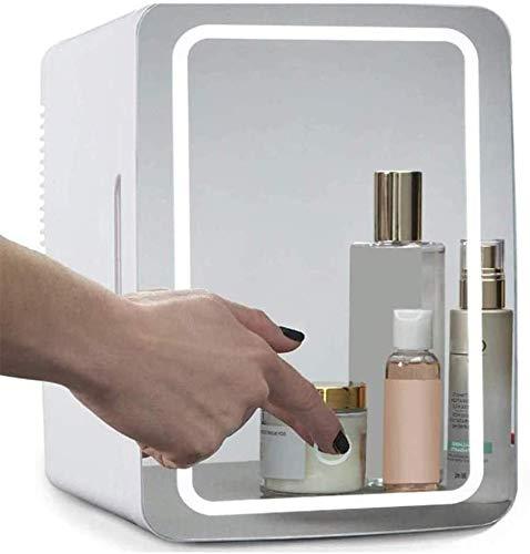 TWTW Mini Frigo Cosmétique Portable,2-in-1 Miroir de Maquillage Soins de la Peau avec réfrigérateur Cooler LED Compact Portable,for Chambre Bureau Dorm Car