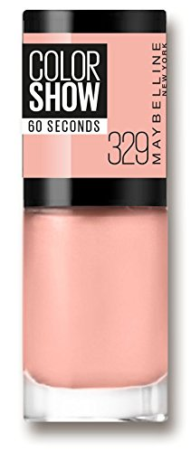 Maybelline New York Make-Up Nailpolish Color Show Nagellak/Ultra glanzende verflak in zacht bruin, 1 x 7 ml Canal Street