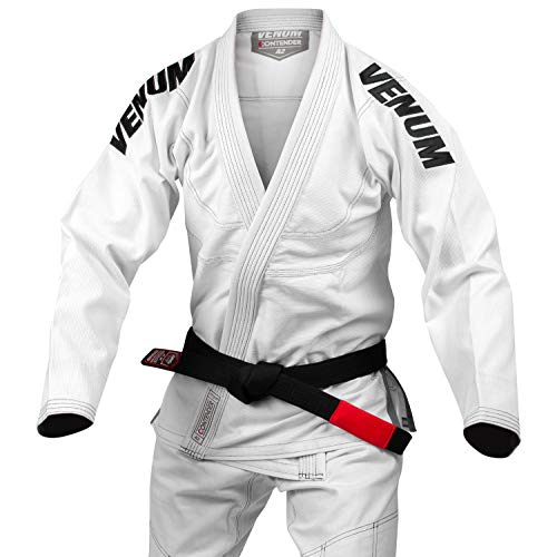 Venum Contender EVO Kimono De Jiu Jitsu Brasileño/BJJ Gi, Unisex Adulto, Blanco, A3