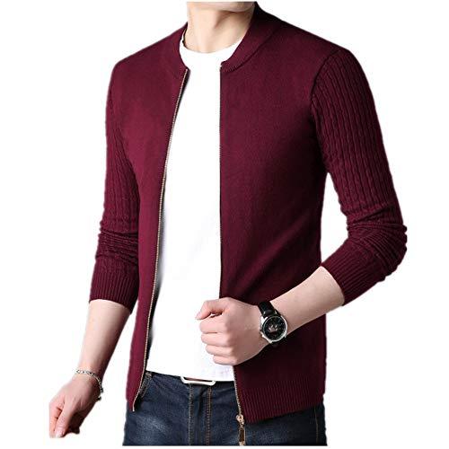 Otoño Invierno Hombres Suéter Masculino Chaqueta Color Sólido Suéteres Prendas de Punto Caliente Suéter Cardigans Ropa de los Hombres