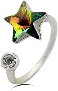 Packingoutlet Crystal Stars Ring