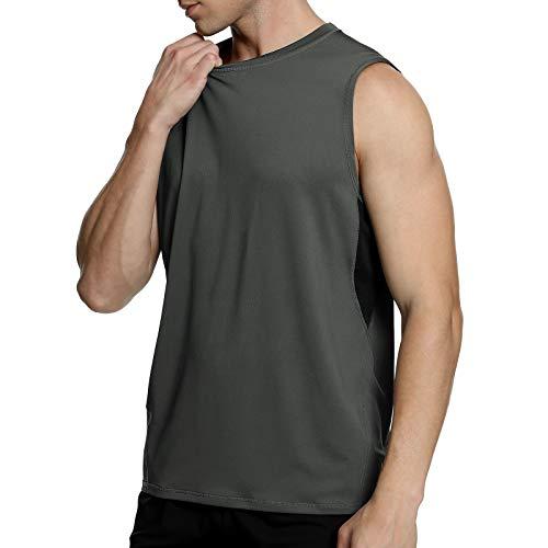 MEETYOO Canotta Uomo, Maglie Senza Maniche T Shirt Palestra Magliette Sportiva per Running Gym Fitness