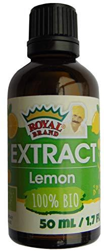 Biologisch citroenextract 50 ml, glazen fles voor betere kwaliteit