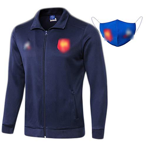 HGTRF Jacke 2019 Französische Jacke mit Reißverschluss, Rugby-Kleidung, Herbstsport- und Freizeitkleidung mit Langen Ärmeln, atmungsaktive Rugby-Kleidung-S