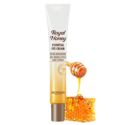 SKIN FOOD Royal Honey Essential Eye Cream 1.01 fl.oz - Anti Aging and Moisturizing Fermented Honey Contained Eye Treatment Cream, Nourishing and Anti-Wrinkle Care