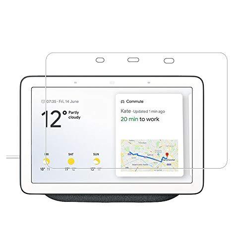 Zshion Protector de pantalla para Google Home Hub/Google Nest Hub, dureza 9H, protector de pantalla de vidrio templado para Google Home Hub con cristal transparente antihuellas, 2 unidades