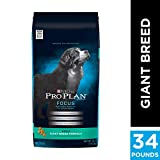 Purina Pro Plan High Protein Giant Breed Dry Dog Food, FOCUS Giant Breed Formula - 34 lb. Bag, PRO PLAN Adult Giant Brd Dog