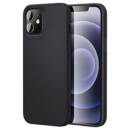 ESR Weiche Hülle kompatibel mit iPhone 12 Mini Silikon Gummi Hülle Schwarz