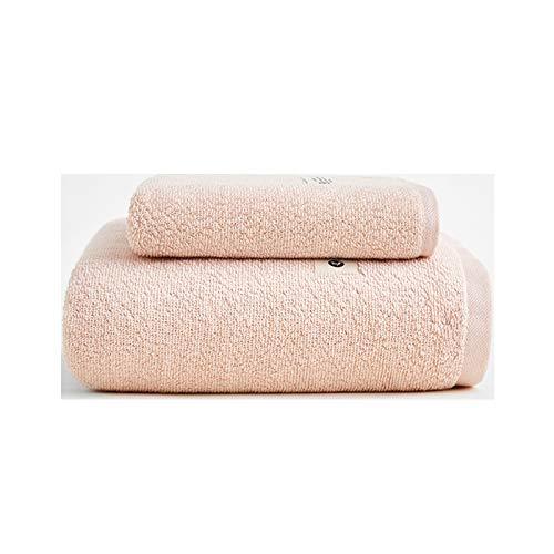 NAFE Juegos de Toallas de algodón, 100% Toallas de baño del Conjunto 2 Piezas para baño, Absorbente Hotel SPA Gimnasio 1 1 Toallas de baño Toallas de Mano, para el baño, la Pink