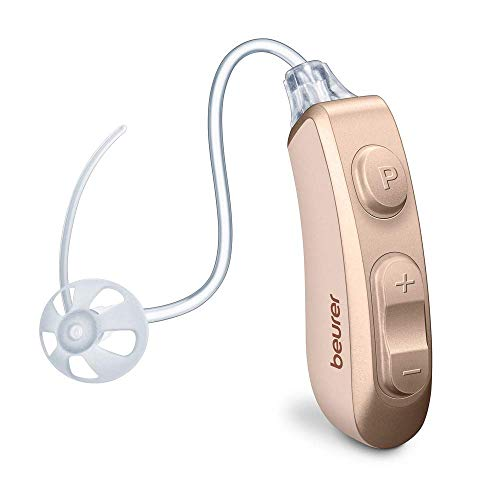 Beurer HA 80 Single digitale Hörhilfe, links und rechts einsetzbar, 2 Hörprogramme, 4 Aufsätze, ergonomische Passform hinter dem Ohr, Wechselakku, Reinigungsbürste