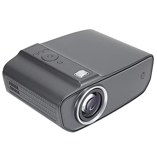 Zunate Mini proyector, Gris Perlado, portátil para el hogar, Mini proyector de Video Compatible con 1080p Full HD, proyector de Cine Compatible con Cajas de TV, computadoras portátiles(EU)