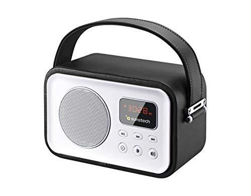 Sunstech RPBT450BK - Radio de diseño Retro con Bluetooth, Color Negro