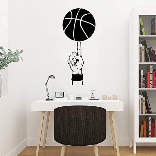 Creativo dedo baloncesto deportes Logo NBA Jordan Kobe James pared pegatina vinilo arte calcomanía niño ventiladores dormitorio sala de estar Club decoración del hogar Mural