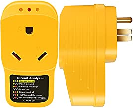 VSTM RV Surge Protector 30 Amp, 125V 30Amp Male to 30Amp Female RV Power Defender Voltage Protector, Adapter Circuit Analyzer with LED Indicator Lights for Camper RV Trailer