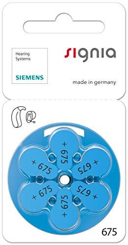 60 Stück (10 Blister) Siemens Signia Typ 675 Hörgerätebatterie Zinc Air P675 PR44 ZL1 mit 2 Stück LUXTOR® Reinigungstücher für Hörgeräte und Otoplastiken