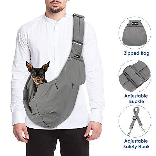 SlowTon Tragetuch Hund, Katze Haustier Hand Schleuderträger Schultertasche Verstellbare mit Vortasche Sicherheitsgurt im Freien Spielraum Welpen Tragen für das Gehen der U-Bahn