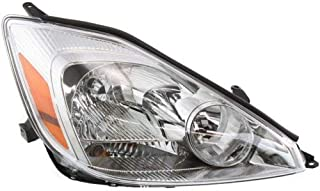 Headlight Assembly Compatible with 2004-2005 Toyota Sienna Halogen CE/LE/XLE Models Passenger Side