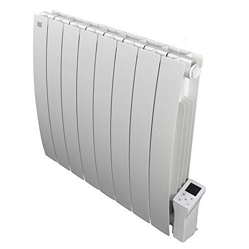 Radiatore Elettrico Smart Wi-fi Deltacalor Caldo 1500W | Termosifone Termoconvettore Parete a Basso Consumo con Termostato Digitale Wi-fi | Riscaldamento stanze fino a 16mq | Alluminio, Bianco