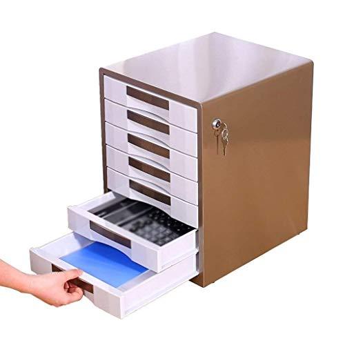 Storage Box Lock Data Ladekast Hoge Kwaliteit Materiaal Delicate Workmanship Desktop Organiseren Office Assistant - 35x30x41cm Opbergdoos A