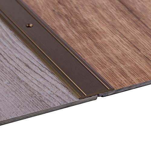 Gedotec Alu Übergangsprofil flach Bodenprofil Tür Übergangsschiene Laminat - Parkett - Vinyl UVM. | Breite 37 mm | Türschwelle gelocht | Aluminium Bronze eloxiert | 1 Stück - Ausgleichsprofil 100 cm