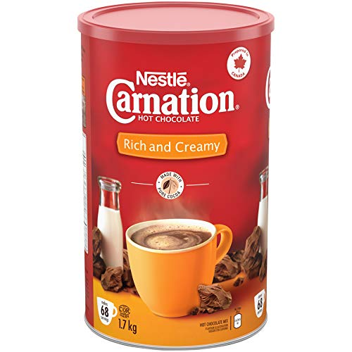 Carnation Hot Chocolate, Rich And Creamy, Canister, 1.7 Kg